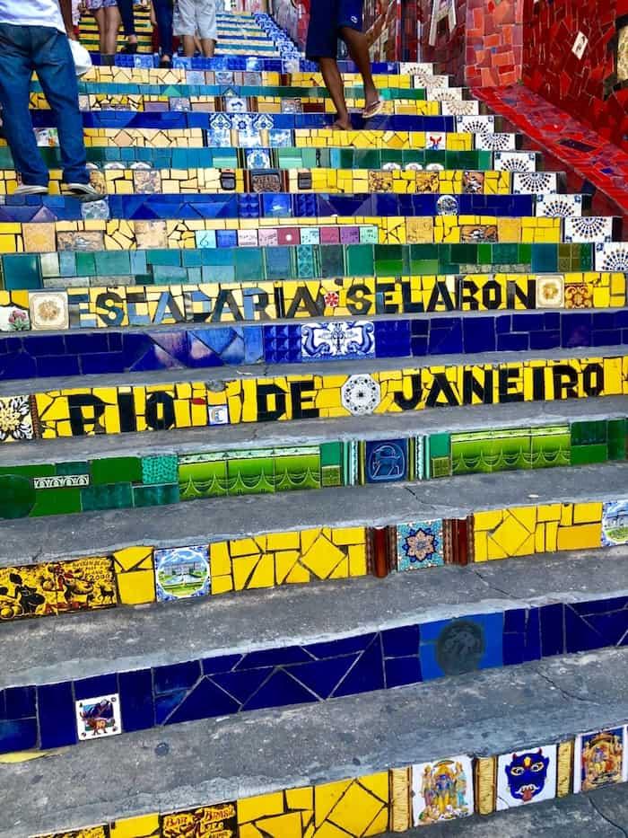 Escalier Selarón à Rio de Janeiro au Brésil
